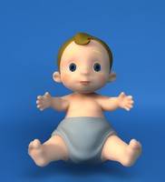 3d model paul baby
