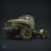 3d truck body car model