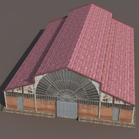 3d model of factory building modeled