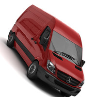 mercedes-benz sprinter van obj
