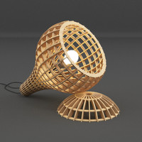 3d model wooden lamp light
