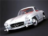 3d model mercedes-benz 300 sl