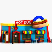 Cartoon Hot Dog Restaurant
