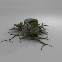 3d model tree bark
