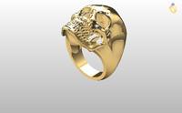 rhino skull ring