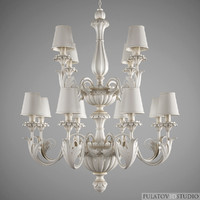3d model art deco chandelier silvano