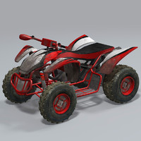 maya realtime quad bike atv