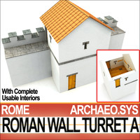Ancient Roman Wall Turret A