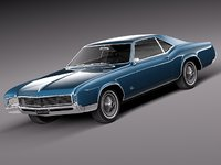 1966 antique luxury buick riviera 3d model