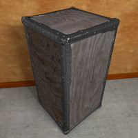 wooden crate tea edges 3d model