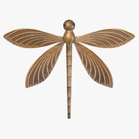 3d model wall dragonfly fg