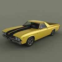 1969 chevrolet el camino 3ds