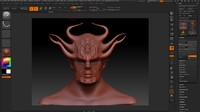 3d model demon man face