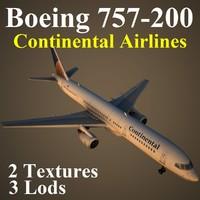 3d model boeing 757-200 coa