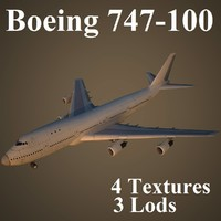 3d model boeing 747-100 air