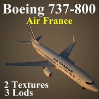 boeing 737-800 afr 3d max