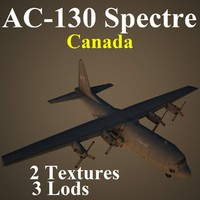 ac-130 spectre cfc 3d model