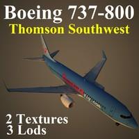 boeing 737-800 tom 3d max