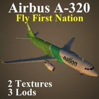 3d model airbus frn