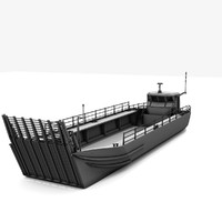generic military transport landing craft 3d lwo