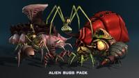 maya alien bugs pack