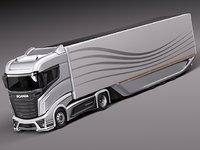 aero 2014 truck concept 3d model