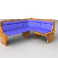 3d sofa set model