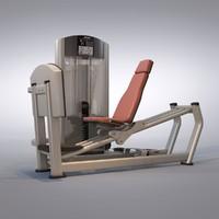 3d leg press machine model