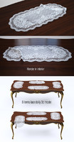 3d model lace doily set. 8 items