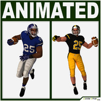 team player american football 3d model