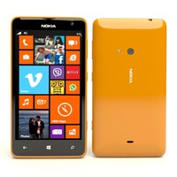 3d nokia lumia 625 orange model