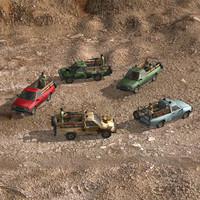 pickup pack 3d model