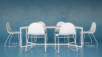 3d model of table chairs olivieri -