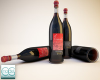 bottles wine 3ds