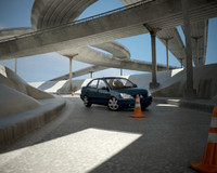 3d road mitsubishi lancer 1 model