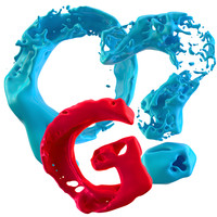 3d model splashy letters