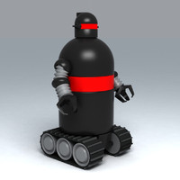 3d model of toy robot