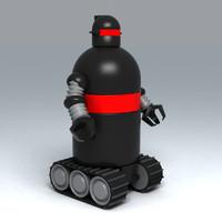 3d model of toy robot