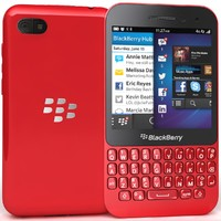 blackberry q5 red 3d max