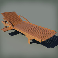 garden deck chair 3d model