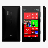 3d nokia lumia 928 black model
