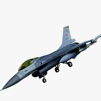 3d martin f 16 fighting falcon model