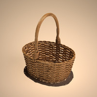 3d model cane picnic basket
