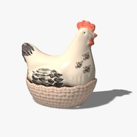 3d model chicken basket