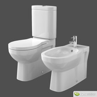 ceramic toilet bidet foster 3d model