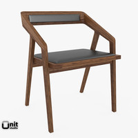 katakana chair dare 3d model
