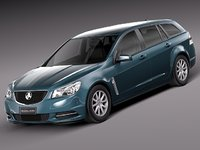 3d model of 2013 2014 wagon holden