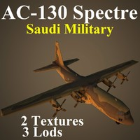 ac-130 spectre military sau 3d model
