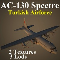 3d model of ac-130 spectre taf