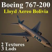 max boeing 767-200 llb